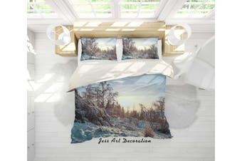 3D Snow Forest Quilt Cover Set Bedding Set Pillowcases 04-Queen