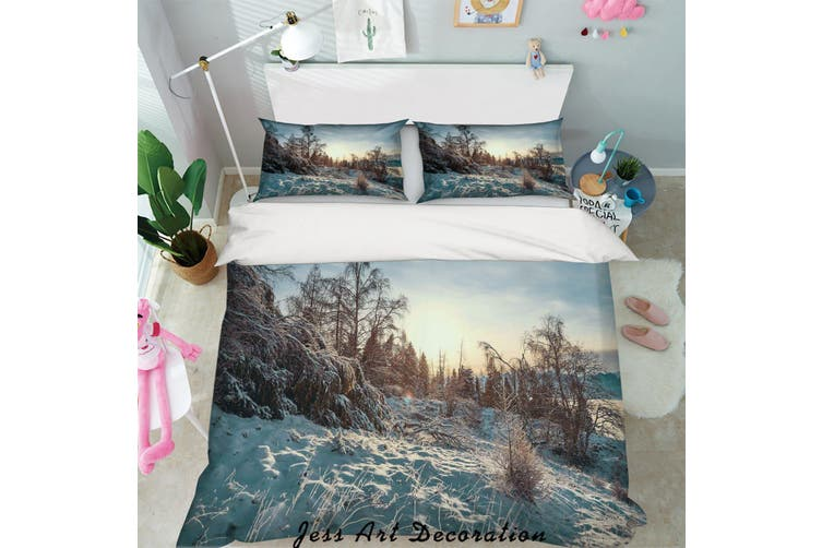 3D Snow Forest Quilt Cover Set Bedding Set Pillowcases 04-King