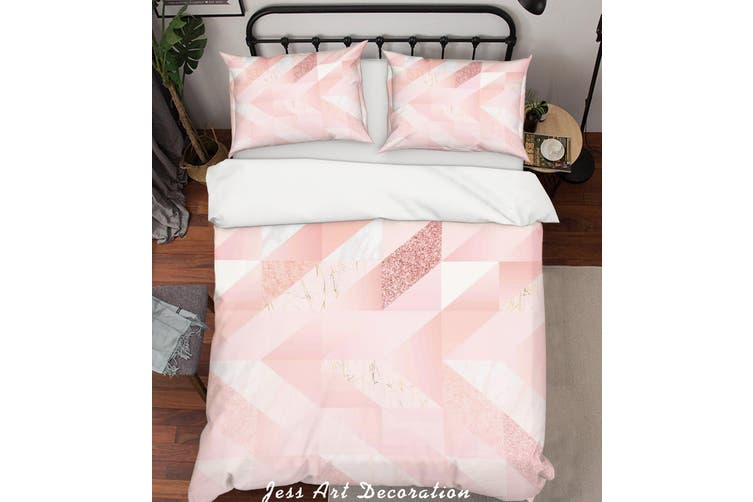 3D Pink Stripes Background Quilt Cover Set Bedding Set Pillowcases  66-King