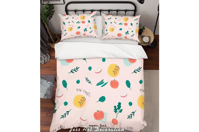 3D Color Food  Pattern Quilt Cover Set Bedding Set Pillowcases  65-Queen