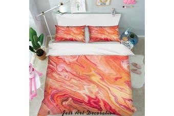 3D Orange Marble Quilt Cover Set Bedding Set Pillowcases 96-Single