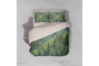3D Pine Forest Quilt Cover Set Bedding Set Pillowcases 40-Double