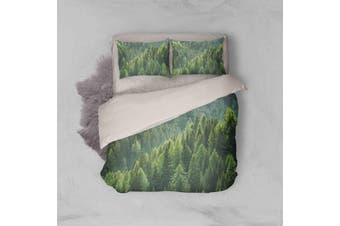 3D Pine Forest Quilt Cover Set Bedding Set Pillowcases 40-King