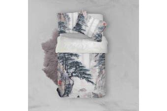 3D Pine Landscape Quilt Cover Set Bedding Set Pillowcases 4-Single