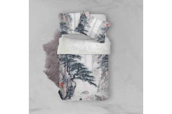 3D Pine Landscape Quilt Cover Set Bedding Set Pillowcases 4-King