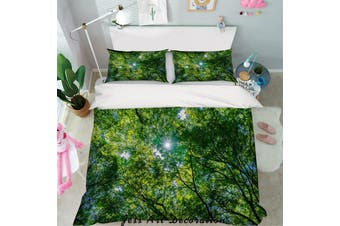 3D Green Forest Trees Quilt Cover Set Bedding Set Pillowcases 58-Double