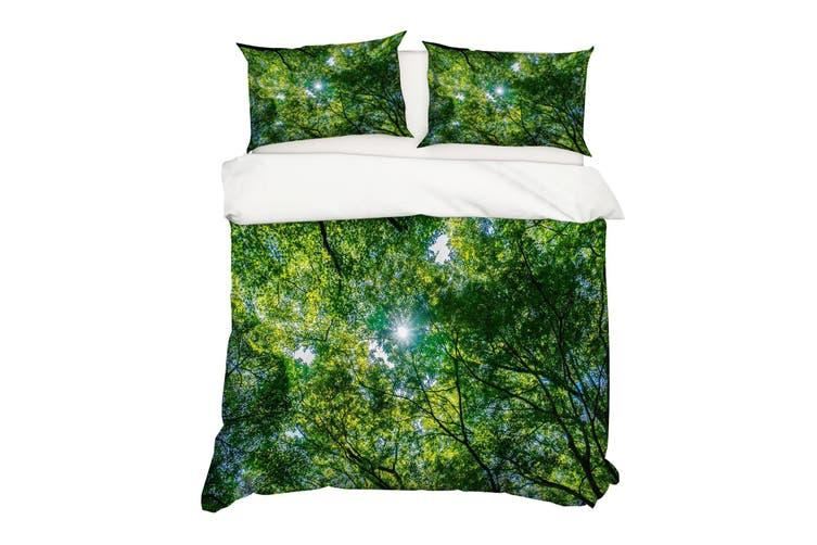 3D Green Forest Trees Quilt Cover Set Bedding Set Pillowcases 58-Queen