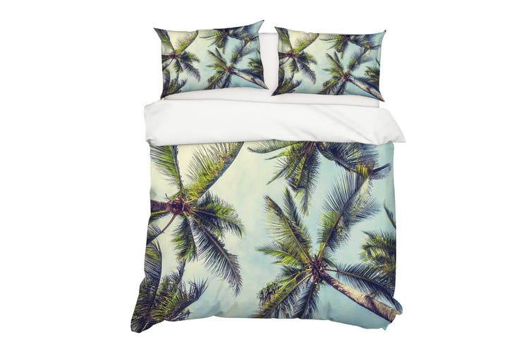 3D Green Coconut Trees Quilt Cover Set Bedding Set Pillowcases 46-Double