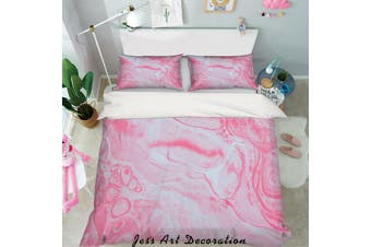 3D Pink Abstract Marble Quilt Cover Set Bedding Set Pillowcases 25-Double