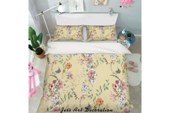 3D Pink Floral Quilt Cover Set Bedding Set Pillowcases 17-King
