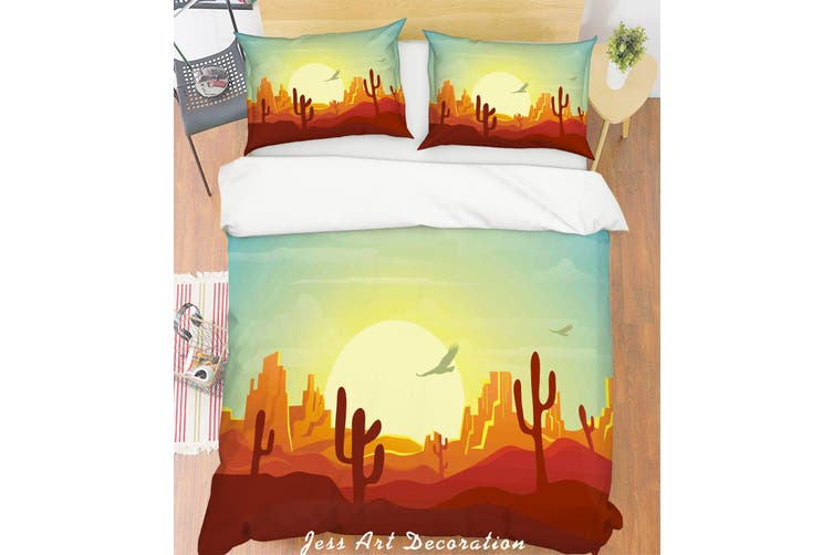 3D Desert Landscape Quilt Cover Set Bedding Set Pillowcases 252-Double