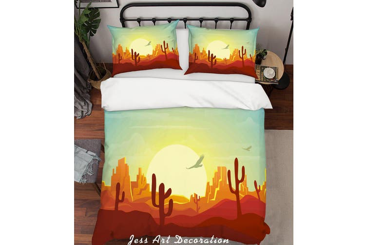3D Desert Landscape Quilt Cover Set Bedding Set Pillowcases 252-Queen