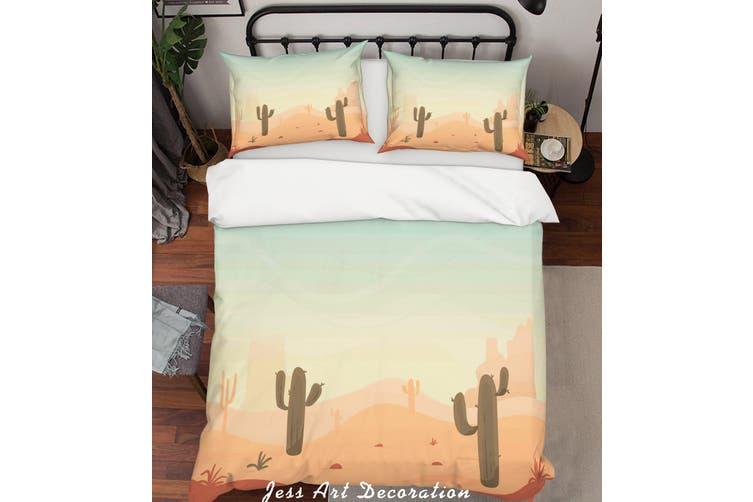 3D Desert Landscape Quilt Cover Set Bedding Set Pillowcases 251-Single