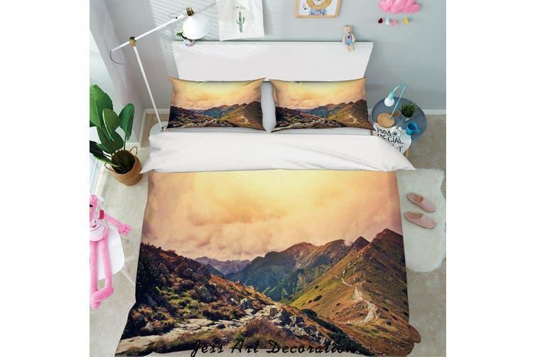 3D Mountain Peak Sky Quilt Cover Set Bedding Set Pillowcases 14-Single