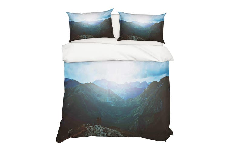 3D Mountain Sunset Quilt Cover Set Bedding Set Pillowcases 13-Double
