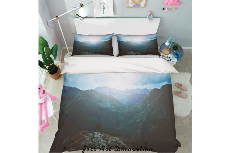 3D Mountain Sunset Quilt Cover Set Bedding Set Pillowcases 13-Queen