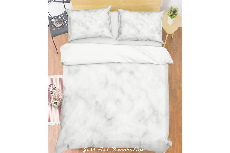 3D Grey Marble Quilt Cover Set Bedding Set Pillowcases 249-Double