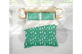 3D Green Pine Trees Quilt Cover Set Bedding Set Pillowcases 198-Queen