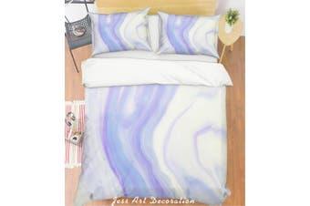 3D Purple Marble Quilt Cover Set Bedding Set Pillowcases 36-Single