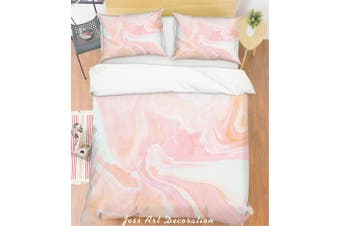 3D Pink Marble Quilt Cover Set Bedding Set Pillowcases 228-Single