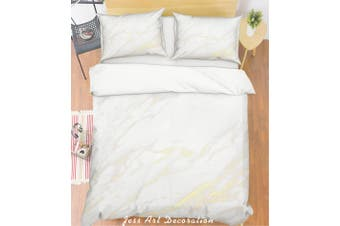 3D Grey Marble Quilt Cover Set Bedding Set Pillowcases 197-Single