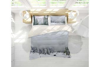 3D Snow Pine Forest Quilt Cover Set Bedding Set Pillowcases 93-King