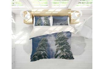 3D Snow Pine Forest Quilt Cover Set Bedding Set Pillowcases 91-Single