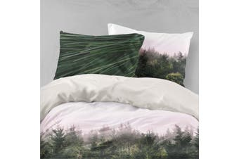 3D Green Pine Forest Quilt Cover Set Bedding Set Pillowcases 90-King