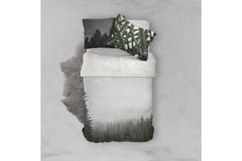 3D Fog Pine Forest Quilt Cover Set Bedding Set Pillowcases 89-Double