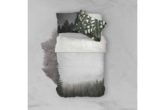 3D Fog Pine Forest Quilt Cover Set Bedding Set Pillowcases 89-King