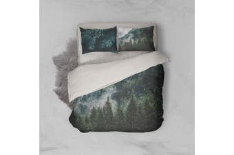 3D Green Pine Forest Quilt Cover Set Bedding Set Pillowcases 87-Double