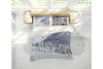 3D Winter Snow Pine Forest Quilt Cover Set Bedding Set Pillowcases 84-Single
