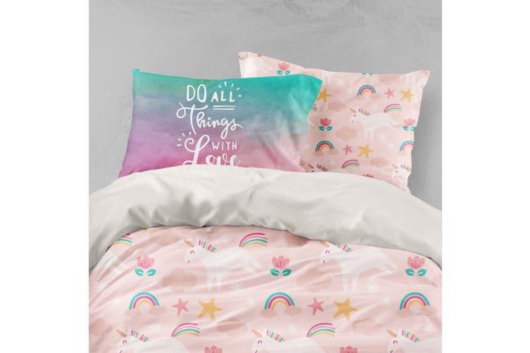 3D Unicorn Rainbow Quilt Cover Set Bedding Set Pillowcases 47-King