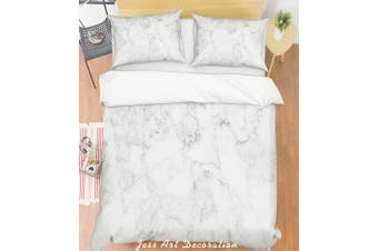 3D Grey Marble Quilt Cover Set Bedding Set Pillowcases 174-Double
