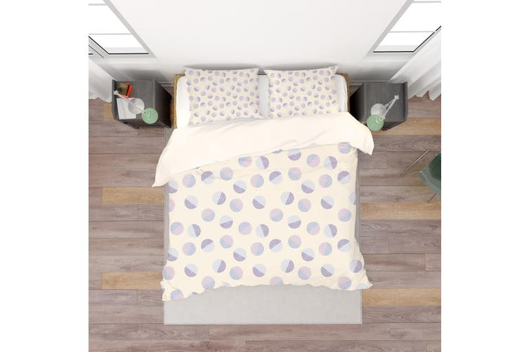 3D Purple Circle Pattern Quilt Cover Set Bedding Set Pillowcases 108-Double