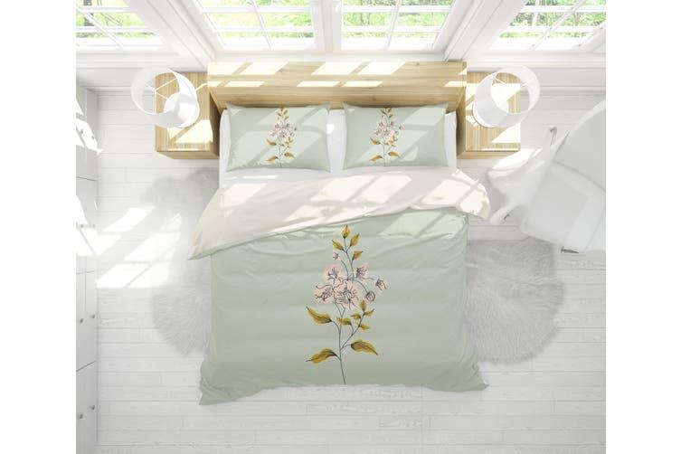 3D Colored Flowers Quilt Cover Set Bedding Set Pillowcases  63-Queen