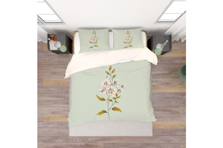 3D Colored Flowers Quilt Cover Set Bedding Set Pillowcases  63-King