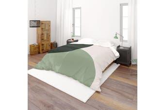 3D Black Green White Background Quilt Cover Set Bedding Set Pillowcases  62-King