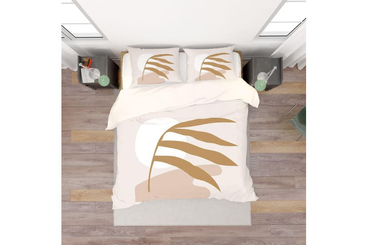 3D Leaf Pattern Quilt Cover Set Bedding Set Pillowcases  60-Double
