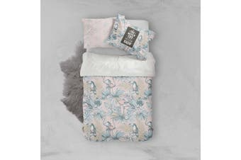 3D Flamingo Toucan Floral Quilt Cover Set Bedding Set Pillowcases 15-Single