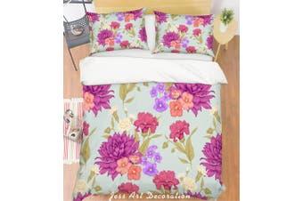 3D Purple Flowers Quilt Cover Set Bedding Set Pillowcases 127-King
