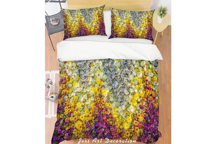 3D White Flowers Quilt Cover Set Bedding Set Pillowcases 125-Single