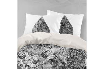 3D Black Marble Quilt Cover Set Bedding Set Pillowcases 88-Double