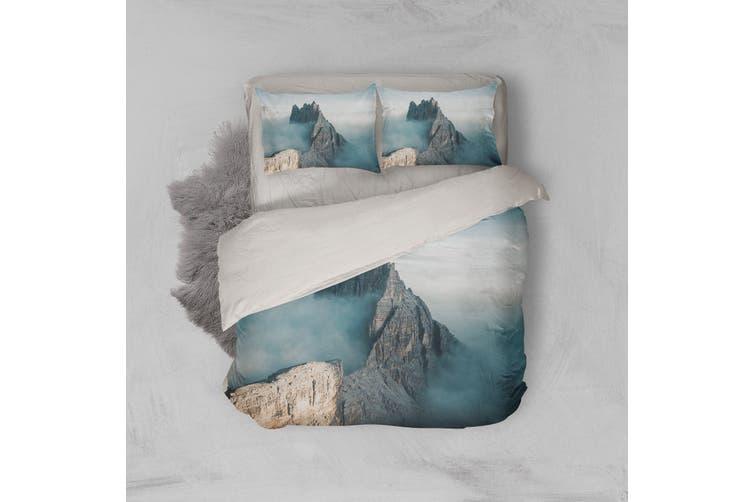 3D Mountains Fog Quilt Cover Set Bedding Set Pillowcases  2-Double