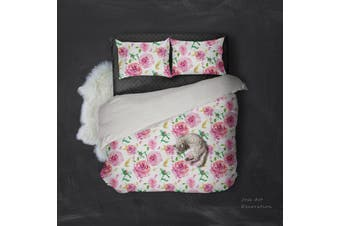 3D Red Flowers Quilt Cover Set Bedding Set Pillowcases 137-Single