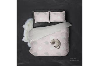 3D Color Cartoon Elephant Pattern Quilt Cover Set Bedding Set Pillowcases 135-Double