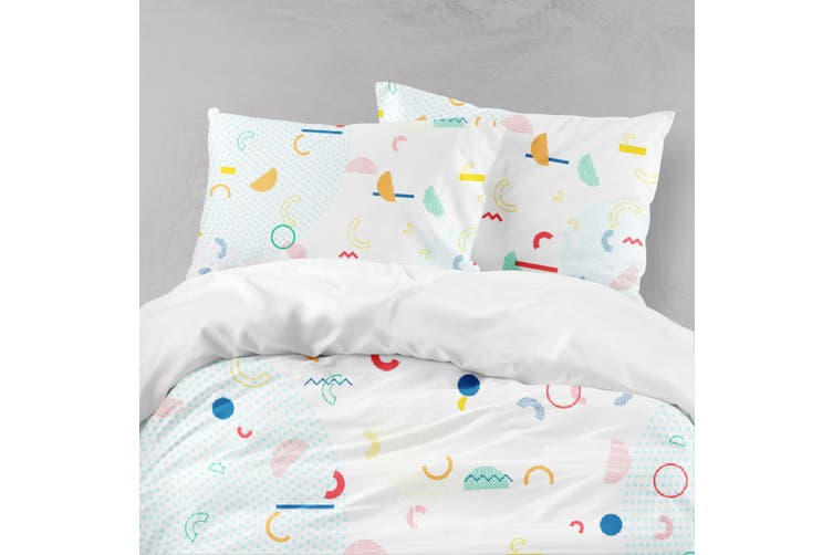 3D Colorful Geometry Pattern Quilt Cover Set Bedding Set Pillowcases 133-King