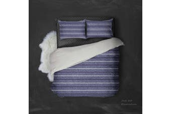 3D Dark Purple Grey Stripe Quilt Cover Set Bedding Set Pillowcases 37-Single