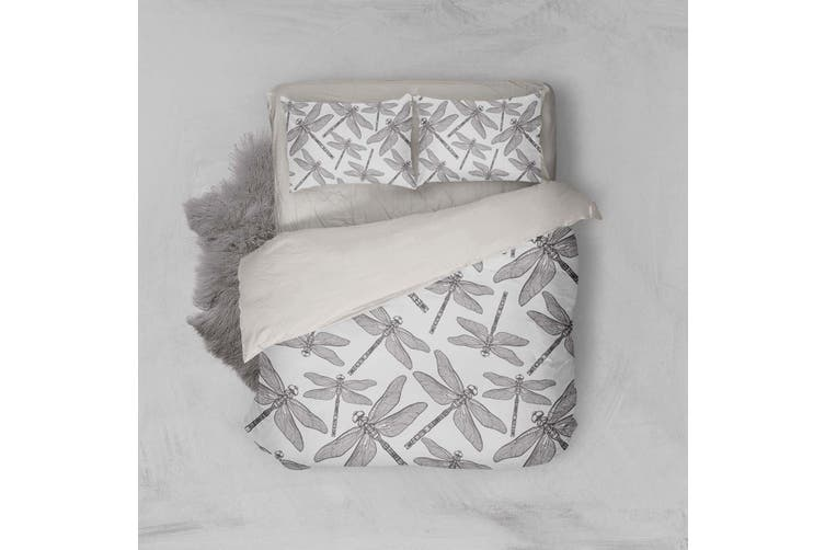 3D Sketch Dragonfly Quilt Cover Set Bedding Set Pillowcases 23-Single