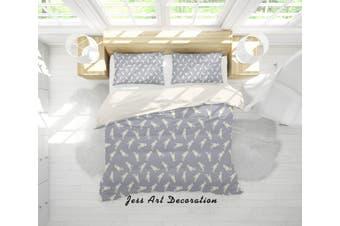 3D Grey Cat Kitty Quilt Cover Set Bedding Set Pillowcases 39-Single